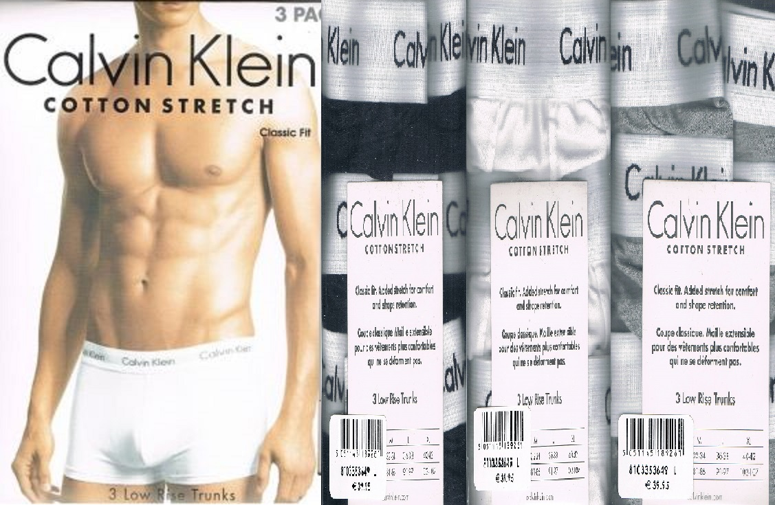 calvin klein ck boxershorts 3x schwarz wei oder grau 3er. Black Bedroom Furniture Sets. Home Design Ideas